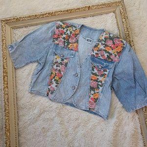 Oversized Stonewashed Denim Jacket 1980s Vintage